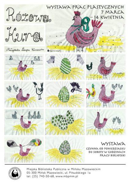 Plakat Rozowa Kura
