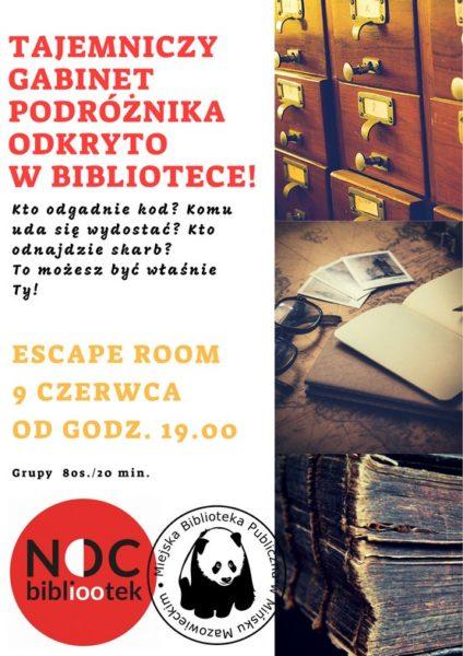 Noc Bibliotek 2018 male