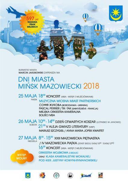 Plakat dni miasta 2018 0