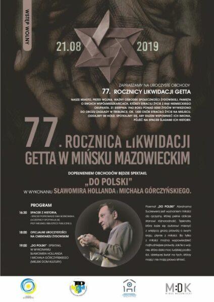77. rocznica likwidacji getta