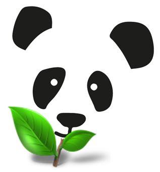 Panda i listek