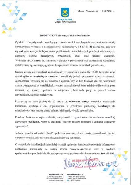 komunikat CoV page 001male