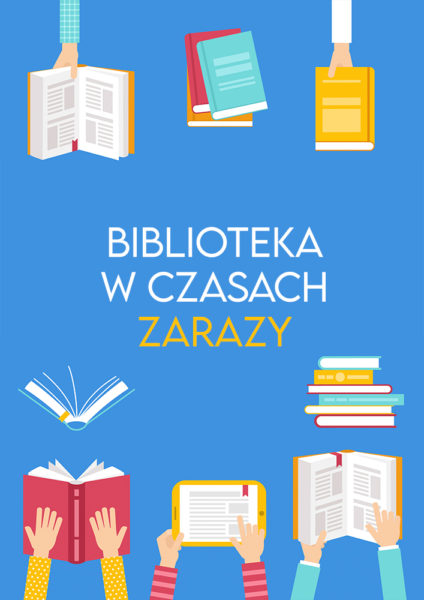 kolorowe książki i dłonie z książkami i tabletem